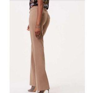 Ann Taylor Loft Pants 6 Mocha Tan Straight Stretch